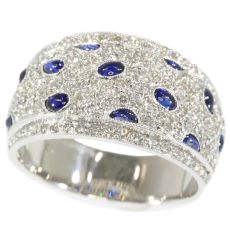 Vintage diamond and sapphire ring top quality by Unknown Artist