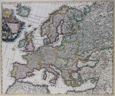 Europa  by  Johann Baptiste Homann