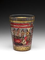 "Very rare ""ZWISCHENGOLD' Beaker Glass. by Unknown Artist"
