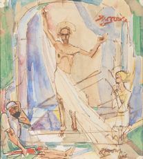 The resurrection of Jesus by Jan Toorop