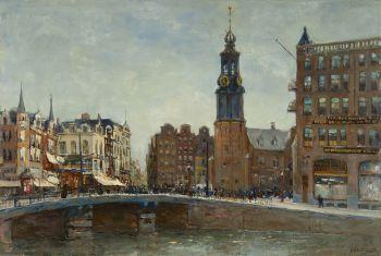 A view on De Munt, Amsterdam by Jan Hillebrand Wijsmuller