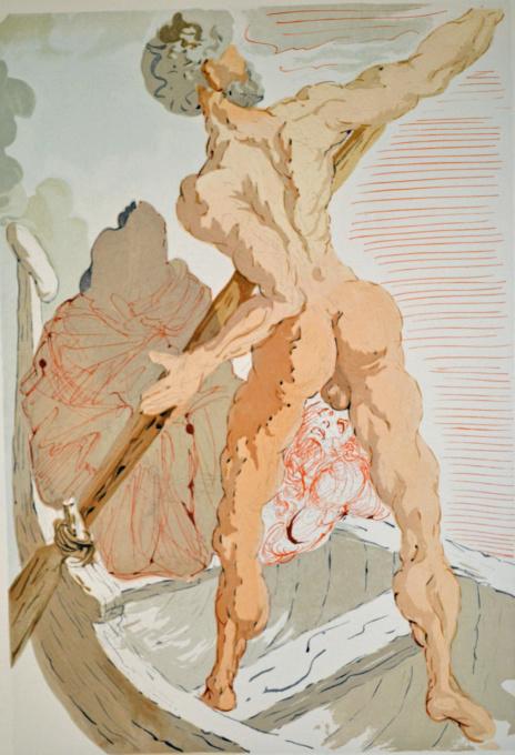 Divina commedia inferno 03 by Salvador Dali
