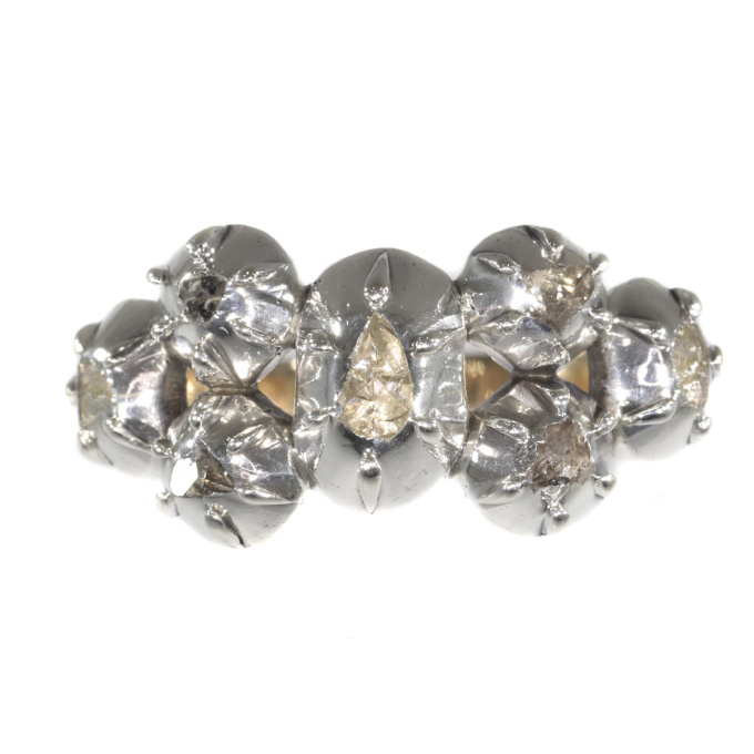 Antique ring with rose cut diamonds Victorian age by Unknown
