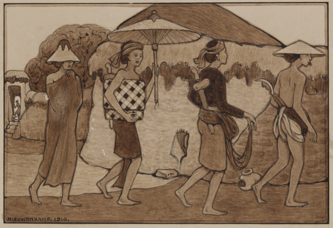 An important collection of drawings by W.O.J. Nieuwenkamp (1874-1950) by Willem Otto Wijnand Nieuwenkamp