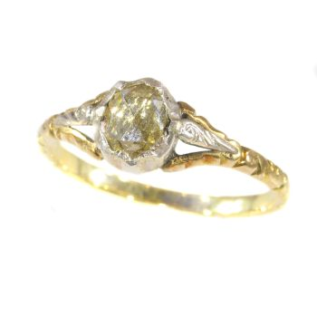 Dutcha antique ring with rose cut diamond by Unknown Artist