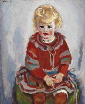 Portrait of Elisa (Liesje) Sluijters Kuijpers-Slujters (1924-2010) by Jan Sluijters