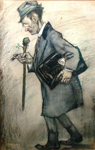 Jacques Rensburg Caricature by Leo Gestel