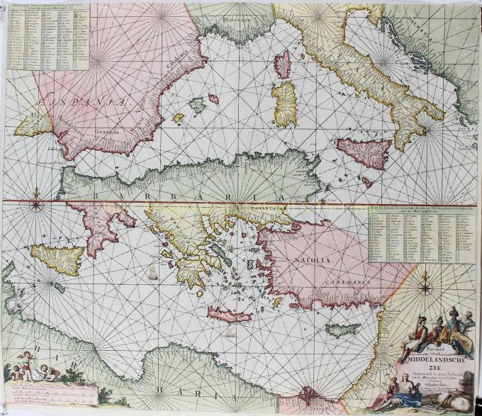 Middellandse Zee  by  Johannes van Keulen