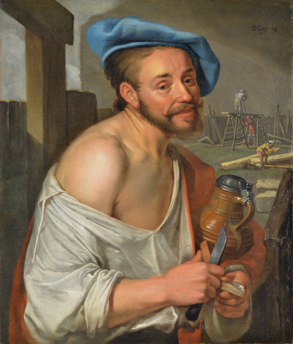 A Carpenter Having Lunch by Jacob Gerritsz Cuyp