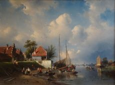 Summer riverside view by Charles Leickert