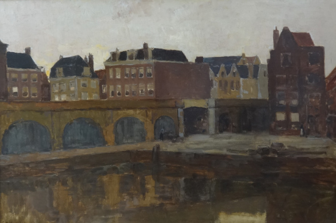 View from the studio to the railway  and the New Social Gardens, Amsterdam by George Hendrik Breitner