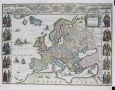 FAMOUS MAP OF EUROPE  by Blaeu, Willem