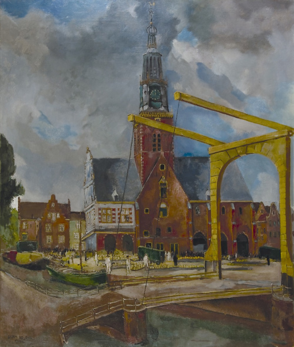 The Cheese market, Alkmaar by Germ de Jong