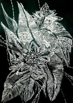 Black leaves III by Magdalena Chmielek
