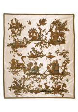 English Stumpwork Embroidery with Chinese Curio Motives, 1690-1700