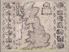 The most famous map of the British Isles by John Speed