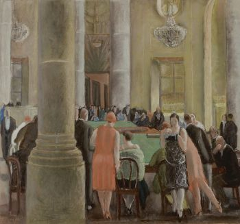 In the casino by Maurice Brianchon