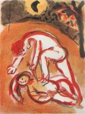 Cain et Abel by Marc Chagall