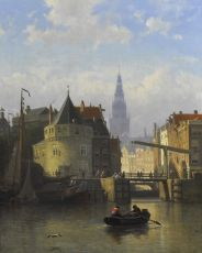 A view of Amsterdam, seen from the IJ, with the Schreierstower by Coen Greive