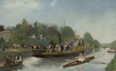 Boating between Laeken and parc Trois Fontaines in Vilvoorde by Emile Hoeterickx