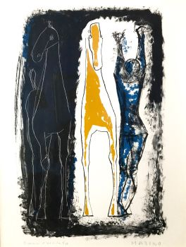 Jongleur et Deux Chevaux by Marino Marini