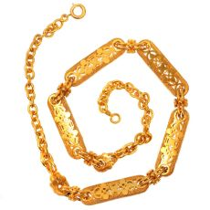 High quality Victorian antique yellow gold watch chain can be worn as necklace by Unknown Artist