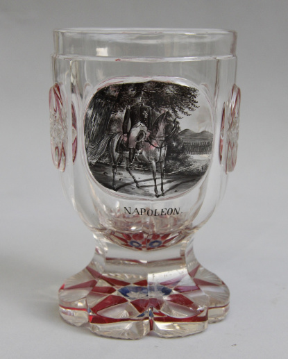 Bohemian Glass, Napoleon on Horseback by Unknown Artist