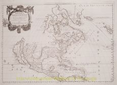 North America antique map  by  Sanson
