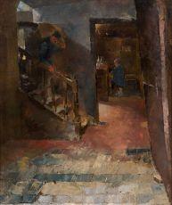 Interieur kroegje by Jan Toorop