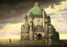 Holy Heart basilica  at Luik by Theo Voorzaat