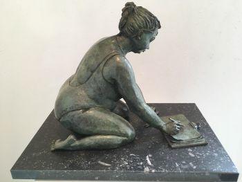 L' esquisse - Bronze Sculpture - In Stock by Véronique Clamot