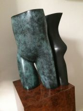 Labyrinth (blue bronze) by Jan Pater