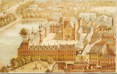 Gezicht a vol d'oiseau op het Binnenhof by Stortenbeker en Heijligers