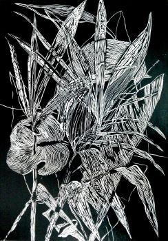 Black Leaves I by Magdalena Chmielek