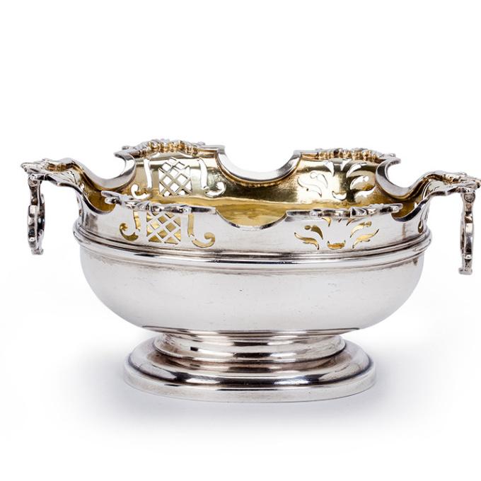 A Dutch silver sweetmeat basket by Unknown Artist