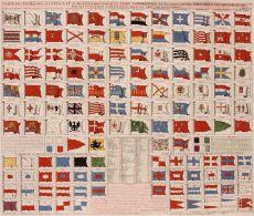 Flag chart  by  Henri Chatelain