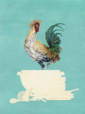 Fearless rooster by Joyce Balk