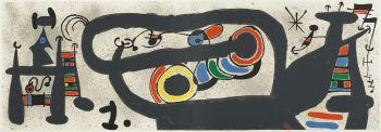 Le Lezard aux Plumes d'Or nr 15 by Joan Miró