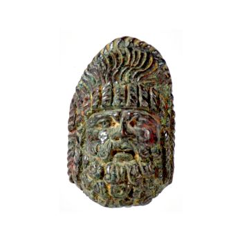 A Roman bronze applique in the shape of a theatre mask by Unknown Artist