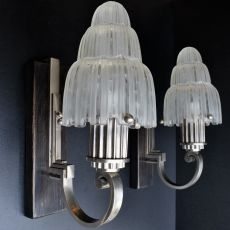 "Pair wallsconces ""Cascade"" by Marius Ernest Sabino"