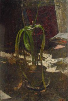Flowerpot with blooming bulb by Gerrit Willem Dijsselhof