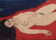 Soraya - Reclining Nude by Corneille