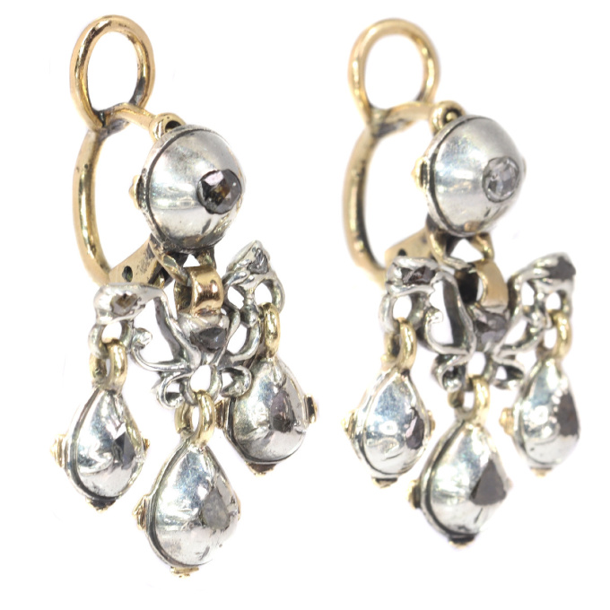 High quality Baroque diamond earrings by Unknown Artist