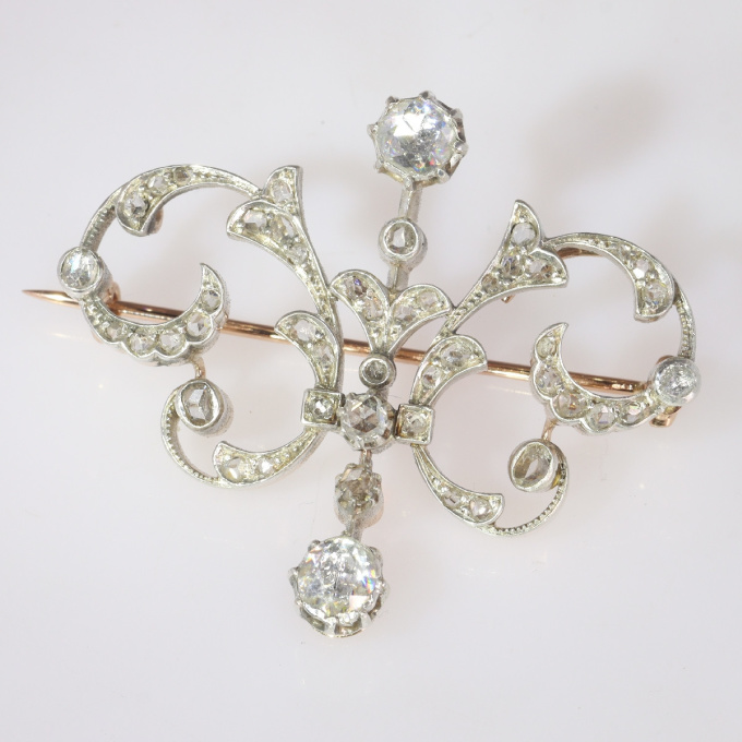 Victorian diamond double purpose jewel can be worn as pendant or brooch by Unknown