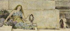On the Steps of the Capitol (The Garland Seller)  by Lawrence Alma-Tadema