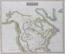 North America , copper engraving published in 1814 for John Thomson's  New General Atlas by Thomson