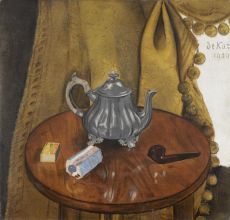 Still life with pipe by Anne-Pierre de Kat