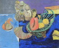 Stilleven met schelpen by Wim Kersten