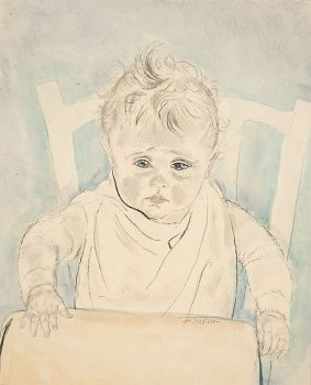 Rob in kinderstoel by Jan Sluijters