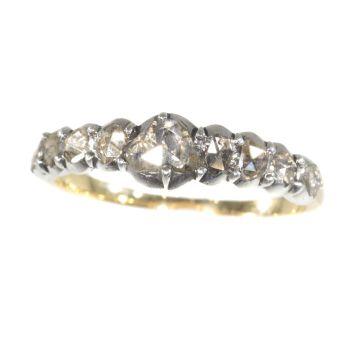 Georgian diamond inline ring by Unknown Artist